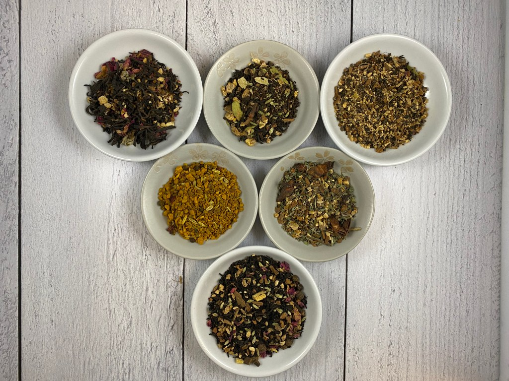 Six Spiced Chai Blends, All With Unique Ingredients.